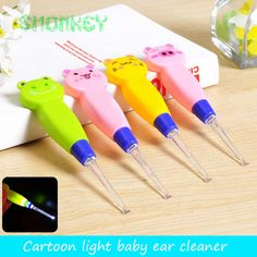 [Visit to Buy] baby care Ear Syringe spoon Light child ears cleaning with light kids Earwax spoon digging luminous dig Ear cleaner baby product Pencil Grip, Ear Cleaning, Ear Wax, Baby Care, Flashlight, Skin Care Tips, How To Find Out, Make It Yourself, Health Care