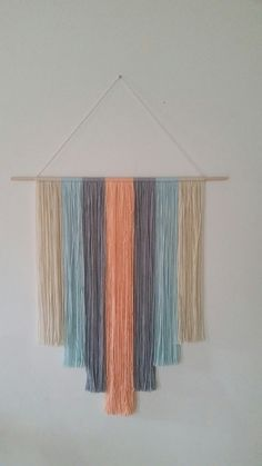 Bohemian Style Yarn Wall Hanging by CreativeChicShop on Etsy