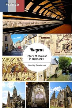 Bayeux, at the center of two of history's prominent trans-channel invasions, is a town to visit to see the Bayeux Tapestry & WWII history.