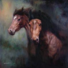 <li>Title: Horses  </li><li>Artist: Howard Park  </li><li>Type: Framed Canvas Wall Art</li>
