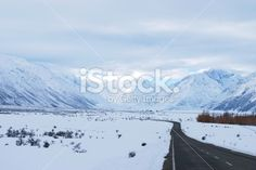 Road to Mt Cook (Aoraki), New Zealand Royalty Free Stock Photo