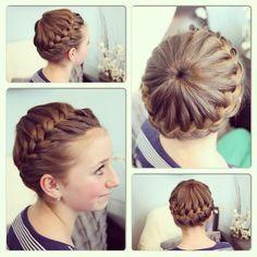 Starburst Crown Braid | Updo Hairstyles | Cute Girls Hairstyles