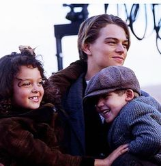 Leo on set of 'Titanic' (1997)........OMG this is super adorable and why I love Leo <3 :)