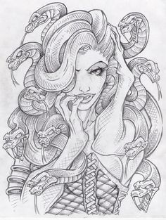 beautiful medusa drawing - Google Search