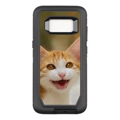 #photo - #Cute Smiling Kitten Face - Funny Cat Meow Photo / OtterBox Defender Samsung Galaxy S8 Case