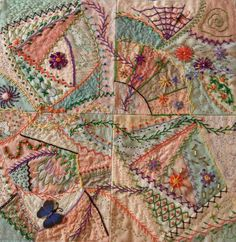 Crazy Quilts: Learn How To Make a Beautiful Crazy Quilt on Craftsy http://www.craftsy.com/class/crazy-quilts/312