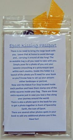 Epcot Kissing Passport 2.0!