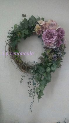 peonies and ivy on grapevine Deco Floral, Arte Floral, Wreath Crafts, Diy Wreath, Flower Decorations, Christmas Decorations, Corona Floral, Funeral Flowers, Wedding Flowers