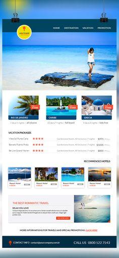 Travel E-newsletter Template Portfolio K-Design Pinterest