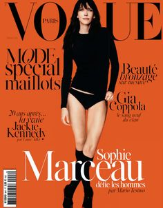 Sophie Marceau by Mario Testino for Vogue Paris May 2014