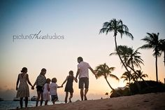Such a gorgeous family session on the beach!