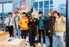 BTS made a surprise visit to the Line Friends store at Itaewon yesterday!  #iHeartAwards #BestFanArmy #BTSARMY @BTS_twt