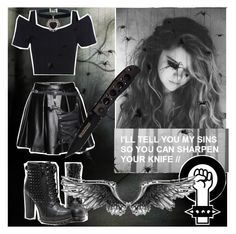 """""""I'll tell you my sins so you can sharpen my knife//"""" by kiaraloops ❤ liked on Polyvore"""