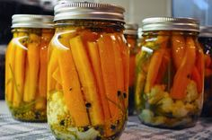 Carrot pickles recipe to try with my not-super-tasty-raw Parisienne carrots.