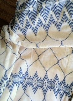Monk's Cloth Afghan -- Swedish Weaving