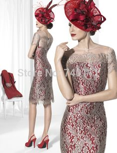 New Lace Mother Of The Bride Dress Red Long Stand Collar Coat Women Formal Outfit For Wedding vestido de festa longo-in Mother of the Bride Dresses from Weddings & Events on Aliexpress.com | Alibaba Group
