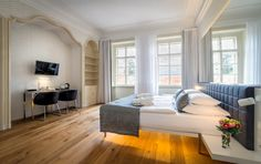 Hotel Golden Star is located in Nerudova Street in the historical center only a few steps from the Prague Castle Gate; Furniture, Hotel, Castle Gate, Home Decor, Bed, Chaise Lounge, Couch