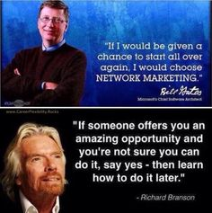 You have to respect business advice from both Bill Gates and Richard Branson. ⭐️ www.CareerFlexibility.Rocks