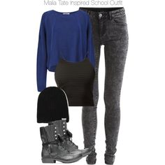 """Teen Wolf - Malia Tate Inspired School Outfit"" by staystronng on Polyvore"