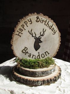 Deer Head Cake Topper Buck Cake Topper Rustic Hunting Birthday Baby Shower Hunting Birthday Little Hunter Camo Boys Party Wood Cake Topper Birthday Gag Gifts, Picnic Birthday, 1st Boy Birthday, Boy Birthday Parties, Birthday Sayings, Happy Birthday, Birthday Images, Birthday Greetings, Birthday Wishes