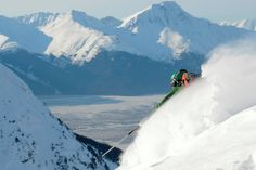 Skiing at Alyeska Ski Resort in Girdwood, Alaska!<3   Largest ski area in Alaska!!!