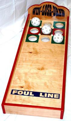 """Win Lose Draw Carnival Game - Each Game Comes Complete with:3 Whiffle Softballs Specifications: H:6"""" x L:48"""" x W:18"""" Weight: 28 lbs Orders totaling over 100 lbs may be subject to additional charges, o"""