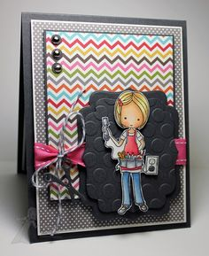 Stamping A Latte (Jodi Collins): Taylored Expressions November Sneak Peek Day 2! - Stamping Friends Recipe:  Stamps:  Moka Wanda and Signature Style (TE) Paper:  Steel Grey (MFT), Choice Snow White (TE) and Snap Life and Snap Life Color Vibe (Simple Stories)  Ink:  Memento Tuxedo Black  Accessories:  Copic Markers, Label Stacklets 2 Taylored Dies, Handmade Charms Taylored Dies, Seeing Spots Embossing Folder, Circle Punch, Silver Brads, Ribbon, Twine and Foam Tape