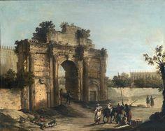 Canaletto, Rome, l'Arc de Septime Sévère, 1720-1721. Huile sur toile, 102,7 x 129,5 cm. Collection particulière © Private collection