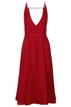 Photo 1 of Deep V-Neck Strappy Midi Dress