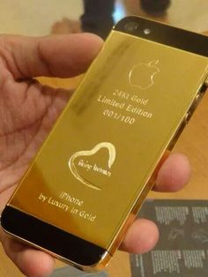 Specially designed iphone5s Gold 24kt for Salman Khan by luxuryingold limited edition!  Being human. ♥