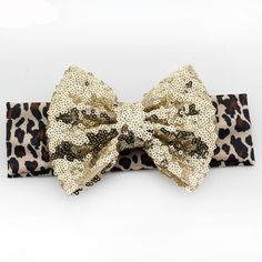 """A headband with a little extra sparkle! - bow size - about 5"""" - headband size - about 15"""""""