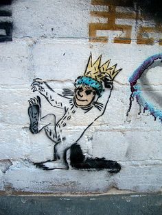 Where the wild things are makes street art accessible to children. Lots of feeling in this work.