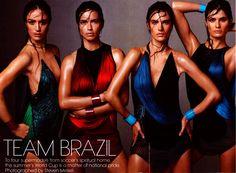 cool Vogue US Junho 2014 | Raquel, Isabeli, Adriana e Alessandra por Steven Meisel  [Supermodels]
