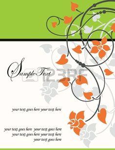 Carta d'epoca Invito con sfondo floreale e Posto per il testo Vector