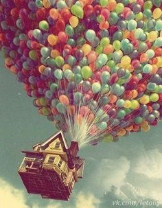 The best part of up... It really made me want a house that flew by balloons lol