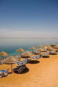 Beach at the Dead Sea, Movenpick Dead Sea Hotel, Jordan | Santiago Urquijo on Flickr