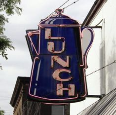 Lunch - old Chicago neon sign
