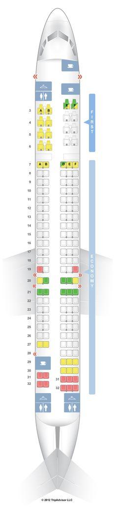 Seatguru Seat Map United Airbus A319 319 Helpful Hints