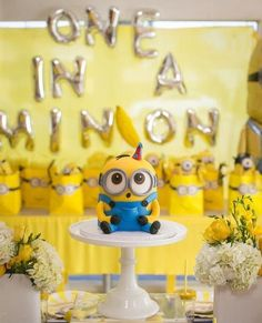 Lot of 16 Minions Blowouts Party Favors yellow creatures