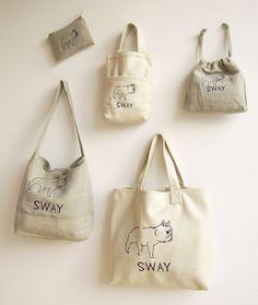 SWAY シリーズのバッグ、ポーチ Art Du Fil, Diy Tote Bag, Bag Packaging, Basket Bag, Fabric Bags, Casual Bags, Cotton Bag, Cloth Bags, Bag Making