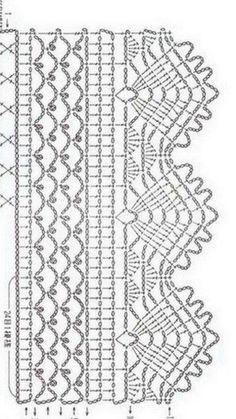 Best 12 Crochet Patterns Lace Crochet Lace Edging for Handtowel ~~ sandragcoatti – Salvabrani – SkillOfKing. Motif Bikini Crochet, Crochet Lace Edging, Crochet Diagram, Crochet Chart, Filet Crochet, Crochet Doilies, Knit Crochet, Diy Crafts Crochet, Easy Crochet