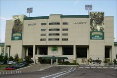 Baylor University Bears - entrance to Floyd Casey football Stadium Saw a car accident between two Baylor cheerleaders while tailgating :)