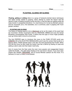 Page 1: Floating, Gliding or Sliding