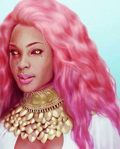 """Asma Jensen"", illustrated by @leonealart, character created by Kaedegirl 🔥 PLEASE TAG THE ARTIST WHEN REPOSTING THIS ART ON YOUR PAGE 🔥 #fantasyart #fantasy #ilovefantasyart #dopeart #pinkhair #nubiamancy #beautifulart #scifiart #pinkhairdontcare #naturalista #dopeshit #sciencefiction #digitalartist #blackart #afroart #ocularmancy #afrocentric #blackwomen #africanart #africanamericanart #afrofuturism #blackwoman #animeart #conceptart #behance #deviantart #pinkhairdye #illustrations…"