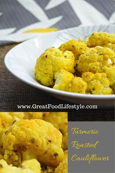 Turmeric Roasted Cauliflower is a powerhouse of nutrition for fighting off sickness! For more healthy ideas follow me on Pinterest and subscribe to my blog at this link! #roastedcauliflower