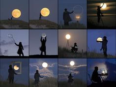 Creative French photographer Laurent Lavedar has fun with the moon!