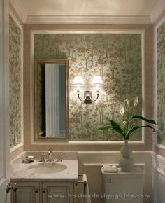 Guest Bathroom (Custom/Build by Woodbourne Builders, Inc.; Photography by Eric Roth; Interior Design by Wilson/Kelsey Design)