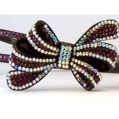 Bling Bling! Bow Headband with Purple & Ab Rhinestones. Perfect for Women, Teens & Girls, Bling Bling Hair Accessory