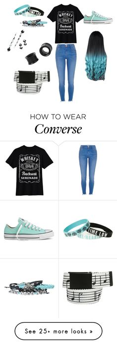 """All Time Low"" by emo-outcast on Polyvore featuring Converse and River Island"