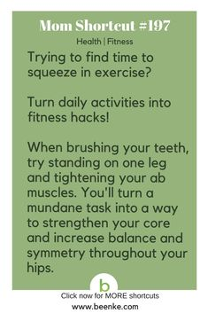 Health and Fitness Shortcuts Turn everyday activities into fitness hacks! … Health and Fitness Shortcuts Turn everyday activities into fitness hacks! Get your daily source of awesome life hacks and parenting tips! CLICK NOW to discover more Mom Hacks. Fitness Hacks, Fitness Motivation, Health And Fitness Tips, Health Tips, Health And Wellness, Health Benefits, Fitness Plan, 1000 Life Hacks, Useful Life Hacks